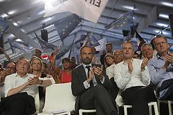 July 8, 2017 - Paris, France, France - Convention de La RŽpublique En Marche Porte de la Villette - Gerard Collomb - Edouard Philippe - Franois de Rugy - Richard Ferrand (Credit Image: © Panoramic via ZUMA Press)