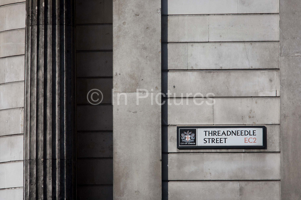 A supporting pillar that forms the outer wall of the Bank of England and a City of London sign for Threadneedle Street EC2 at Bank Underground station in the heart of the capital's financial district. The Bank of England is the central bank of the United Kingdom and the model on which most modern central banks have been based. Established in 1694 acted as the English Government's banker, and to this day it still acts as the banker for HM Government. The Bank was privately owned and operated from its foundation in 1694. It was subordinated to the Treasury after 1931 in making policy and was nationalised in 1946. In 1997 it became an independent public organisation, wholly owned by the Treasury Solicitor on behalf of the Government, with independence in setting monetary policy.