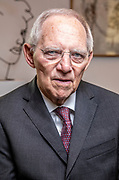 President of the German parliament, Bundestag, Wolfgang Schäuble during an interview in his office at the Reichstag building in Berlin, Germany, January 21, 2020.