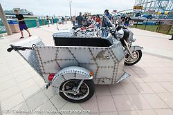 Custom Harley-Davidson with handicap sidecar on display at the Boardwalk Bike Show during the 2015 Biketoberfest Rally. Daytona Beach, FL, USA. October 16, 2015.  Photography ©2015 Michael Lichter.