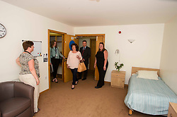 Elaine C Smith was on hand today to cut the ribbon on the Alcohol Related Brain Damage Unit run by voluntary organisation Penumbra in partnership with NHS Lothian and City of Edinburgh Council.  Edinburgh 23 April 2015  Ger Harley, StockPix.eu