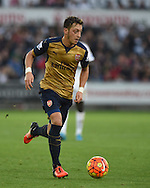 Mesut Ozil of Arsenal in action. Barclays Premier league match, Swansea city v Arsenal  at the Liberty Stadium in Swansea, South Wales  on Saturday 31st October 2015.<br /> pic by  Andrew Orchard, Andrew Orchard sports photography.