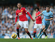 Manchester United's Chris Smalling in action<br /> <br /> - Barclays Premier League - Manchester City vs Manchester Utd - Etihad Stadium - Manchester - England - 2nd November 2014  - Picture David Klein/Sportimage