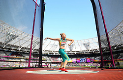 Australia's Taryn Gollshewsky competes in the Women's Discus Throw Qualifying during day eight of the 2017 IAAF World Championships at the London Stadium