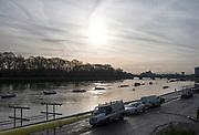 Putney, London,  Tideway Week, Championship Course. River Thames, General View Putney Bridge,  Putney Hard [Foreshore] from Thames RC.<br /> <br /> Thursday  30/03/2017<br /> [Mandatory Credit; Credit: Peter SPURRIER/Intersport Images.com ]