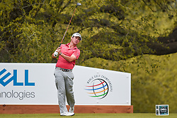 March 23, 2018 - Austin, TX, U.S. - AUSTIN, TX - MARCH 23: Brian Harman watches his tee shot during the third round of the WGC-Dell Technologies Match Play on March 23, 2018 at Austin Country Club in Austin, TX. (Photo by Daniel Dunn/Icon Sportswire) (Credit Image: © Daniel Dunn/Icon SMI via ZUMA Press)