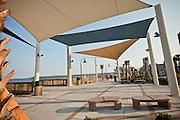 New oceanfront boardwalk along the beach in Myrtle Beach, SC.