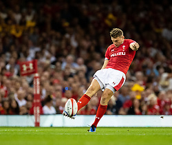Dan Biggar of Wales<br /> <br /> Photographer Simon King/Replay Images<br /> <br /> Friendly - Wales v England - Saturday 17th August 2019 - Principality Stadium - Cardiff<br /> <br /> World Copyright © Replay Images . All rights reserved. info@replayimages.co.uk - http://replayimages.co.uk