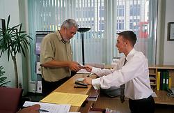 Trainee on reception desk, London Borough of Haringey, UK