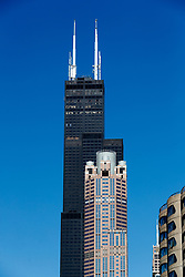 The Willis Tower, Chicago. Also known as The Sears tower.