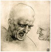 Study for a warrior's head. Leonardo da Vinci (1452-1519) Italian High Renaissance polymath and artist.