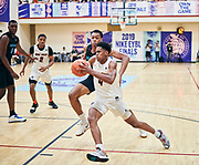 NORTH AUGUSTA, SC. July 10, 2019. Adam Miller 2020 #4 of Mac Irvin Fire 17U at Nike Peach Jam in North Augusta, SC. <br /> NOTE TO USER: Mandatory Copyright Notice: Photo by Jon Lopez / Nike