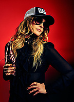 Nashville Musician and Outlaw Radio Host Elizabeth Cook photographed for Adult Swim's Celebrity Poker tournament