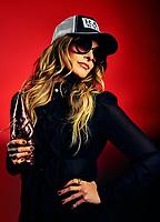 Nashville Musician and Outlaw Radio Host Elizabeth Cook photographed for Adult Swim's Celebrity Poker tournament