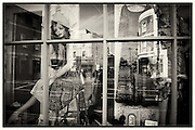 Shop window of Vintage Hart in Crystal Palace, South London