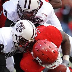 Oct 10, 2009; Piscataway, NJ, USA; Rutgers defensive end Eric Legrand (52) returns a fumbled kickoff return during first half NCAA college football action between Rutgers and Texas Southern at Rutgers Stadium.