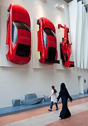 Ferrari World theme park in Abu Dhabi UAE United Arab Emirates