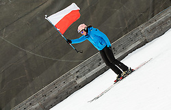 Flag of Poland during Ski Flying Hill Men's Team Competition at Day 3 of FIS Ski Jumping World Cup Final 2017, on March 25, 2017 in Planica, Slovenia. Photo by Vid Ponikvar / Sportida
