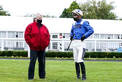 Jockey Thore Hammer Hansen - Mandatory by-line: Robbie Stephenson/JMP - 19/08/2020 - HORSE RACING - Bath Racecourse - Bath, England - Bath Races