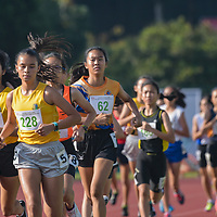 Giselle Diana Enlund (#228) of Cedar Girls' Secondary leading the pack during the early stages of the 1500m C Division Girls finals. (Photo © Stefanus Ian/Red Sports)