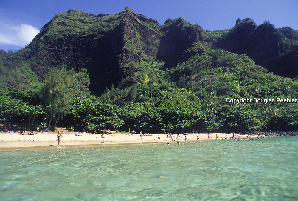Ke'e Beach, Haena, Kauai, Hawaii, USA<br />