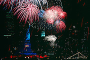 New York City Skyline on the 4th of July.