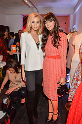 Left to right, IANTHE ROSE COCHRANE-STACK and LILAH PARSONS at the Cointreau launch for Yumi by Lilah Parsons SS/16 collection held at 15 Bateman Street, London on 1st December 2015
