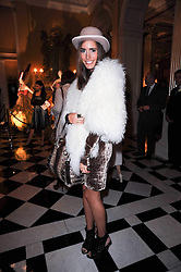 LOUISE ROE at the launch of the Claridge's Christmas Tree designed by John Galliano for Dior held at Claridge's, Brook Street, London on 1st December 2009.