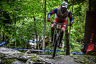 at the Mountain Bike World Championships in Mont-Sainte-Anne, Canada.