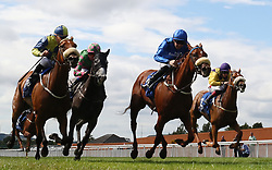 Terzetto ridden by Colm O'Donoghue (second right) wins The Irish Stallion Farms EBF Fillies Handicap during day two of the Darley Irish Oaks Weekend at Curragh Racecourse, County Kildare.