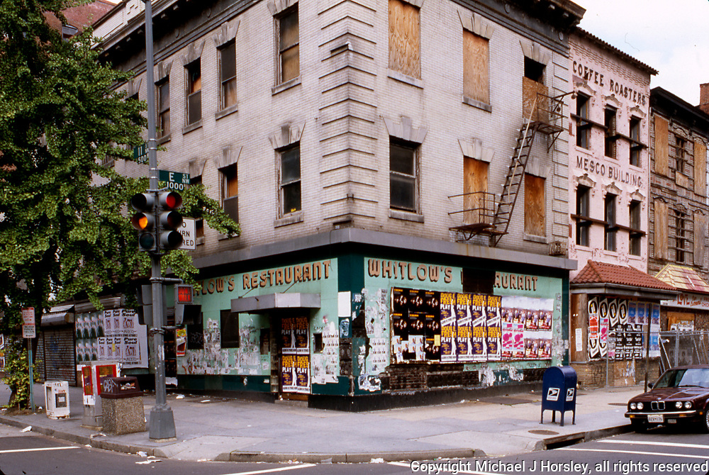 11th Street between F and E NW Washington DC, 1994