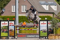 Laseur Megan, NED, Junior Berlin Van De Doornhoeve<br /> Nationaal Kampioenschap KWPN<br /> 6 jarigen springen final<br /> Stal Tops - Valkenswaard 2020<br /> © Hippo Foto - Dirk Caremans<br /> 19/08/2020