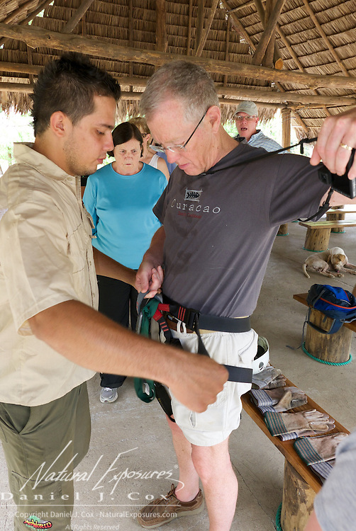Tom gets outfitted for sip lining. Costa Rica.