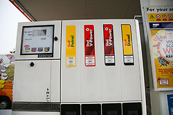 © Licensed to London News Pictures. 30/09/2020. London, UK. Petrol and diesel pumps at a Shell petrol station in London. Royal Dutch Shell Plc will cut up to 9,000 jobs as part of a major overhaul to shift the oil and gas giant to low-carbon energy. Shell will cut the dividend payments to its shareholder for the first time since World War 2. Photo credit: Dinendra Haria/LNP