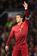 Cristiano Ronaldo of Portugal - Argentina vs. Portugal - International Friendly - Old Trafford - Manchester - 18/11/2014 Pic Philip Oldham/Sportimage