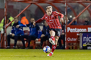 Lincoln City Midfielder Anthony Scully (11) during the EFL Sky Bet League 1 match between Lincoln City and Shrewsbury Town at Sincil Bank, Lincoln, United Kingdom on 15 December 2020.