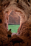 Standing in Stanton's Cave. Marble Canyon of Grand Canyon National Park along the Colorado river ( Mile 31+/-).