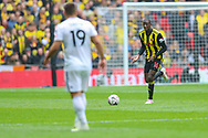 Watford midfielder Abdoulaye Doucoure (16) during the The FA Cup semi-final match between Watford and Wolverhampton Wanderers at Wembley Stadium, London, England on 7 April 2019.