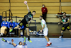 Sebastian Heymann of Germany during handball match between National Teams of Germany and Slovenia at Day 2 of IHF Men's Tokyo Olympic  Qualification tournament, on March 13, 2021 in Max-Schmeling-Halle, Berlin, Germany. Photo by Vid Ponikvar / Sportida