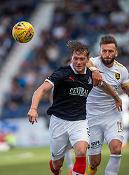 Falkirk's Michael Doyle and Livingston Lee Miller. Falkirk 1 v 1 Livingston, Livingston win 4-3 on penalties. BetFred Cup game played 13/7/2019 at The Falkirk Stadium.