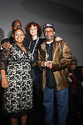 l to r: Moikgansti Kgama, Greg Gates, Michaela Angela Davis and Spike Lee at The ImageNation celebration for the 20th Anniversary of ' Do the Right Thing' held Lincoln Center Walter Reade Theater on February 26, 2009 in New York City. ..Founded in 1997 by Moikgantsi Kgama, who shares executive duties with her husband, Event Producer Gregory Gates, ImageNation distinguishes itself by screening works that highlight and empower people from the African Diaspora.
