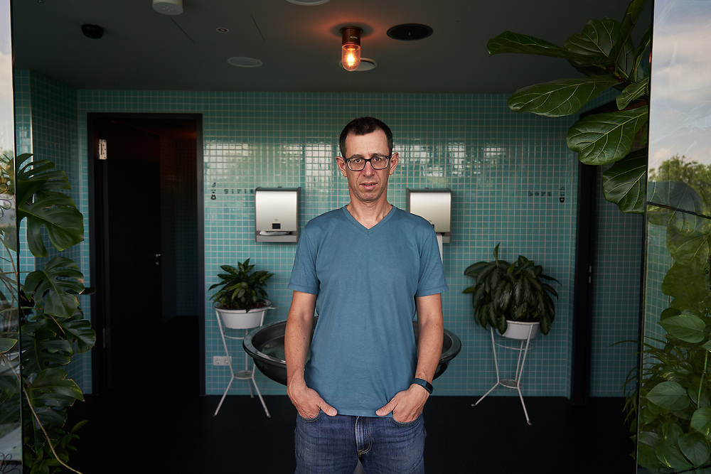 Germany, Berlin, 2018/07/29<br /> <br /> Israeli author Assaf Gavron stands for a portrait at 25 hours Hotel in Berlin on 29/07/2018. (Photo by Gregor Zielke)