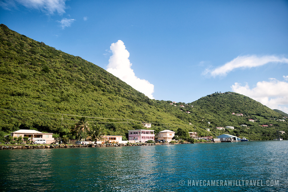 The waterfront of West End on Tortola in the British Virgin Islands.