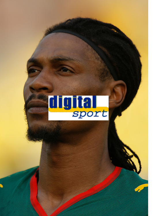 Photo: Steve Bond/Richard Lane Photography.<br /> Egypt v Cameroun. Africa Cup of Nations. 22/01/2008. Rigobert Song of Cameroon and Galatasary during the Cameroon anthem