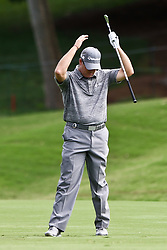 August 10, 2017 - Charlotte, North Carolina, United States - D.A. Points reacts after hitting a fairway shot on the 18th hole during the first round of the 99th PGA Championship at Quail Hollow Club. (Credit Image: © Debby Wong via ZUMA Wire)