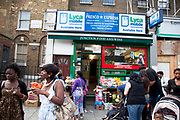 Shop on Walworth Road in South London. This is a a multicultural area in South London where different people of all nationalities and races mix together.