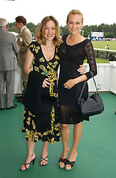 Left to right, actress GILLIAN ANDERSON and actress DIANE KRUGER at the Queen's Cup polo final sponsored by Cartier at Guards Polo Club, Smith's Lawn, Windsor Great Park on 18th June 2006.  The Final was between Dubai and the Broncos polo teams with Dubai winning.<br /><br />NON EXCLUSIVE - WORLD RIGHTS