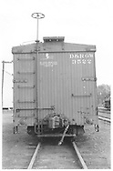 """""""B"""" end view of box car #3522 at Chama.<br /> D&RGW  Chama, NM  Taken by Maxwell, John W. - 9/1/1946"""