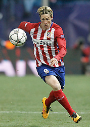 15-03-2016 ESP, UEFA CL, Atletico Madrid - PSV Eindhoven, Madrid<br /> Atletico de Madrid's Fernando Torres // during the UEFA Champions League Round of 16, 2nd Leg match between Atletico Madrid and PSV Eindhoven at the Estadio Vicente Calderon in Madrid, Spain on 2016/03/15. <br /> <br /> ***NETHERLANDS ONLY***