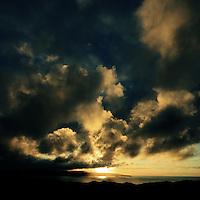 Autumnal sunset, Cornwall